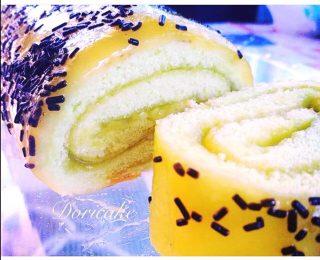 Rotolo con crema gelè di mango