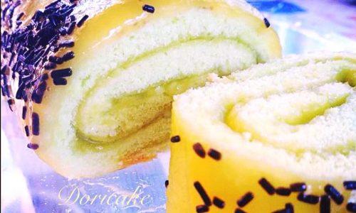 Rotolo con crema gelé di mango
