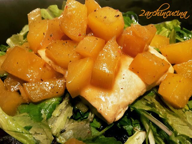 Filetto di salmone e mango