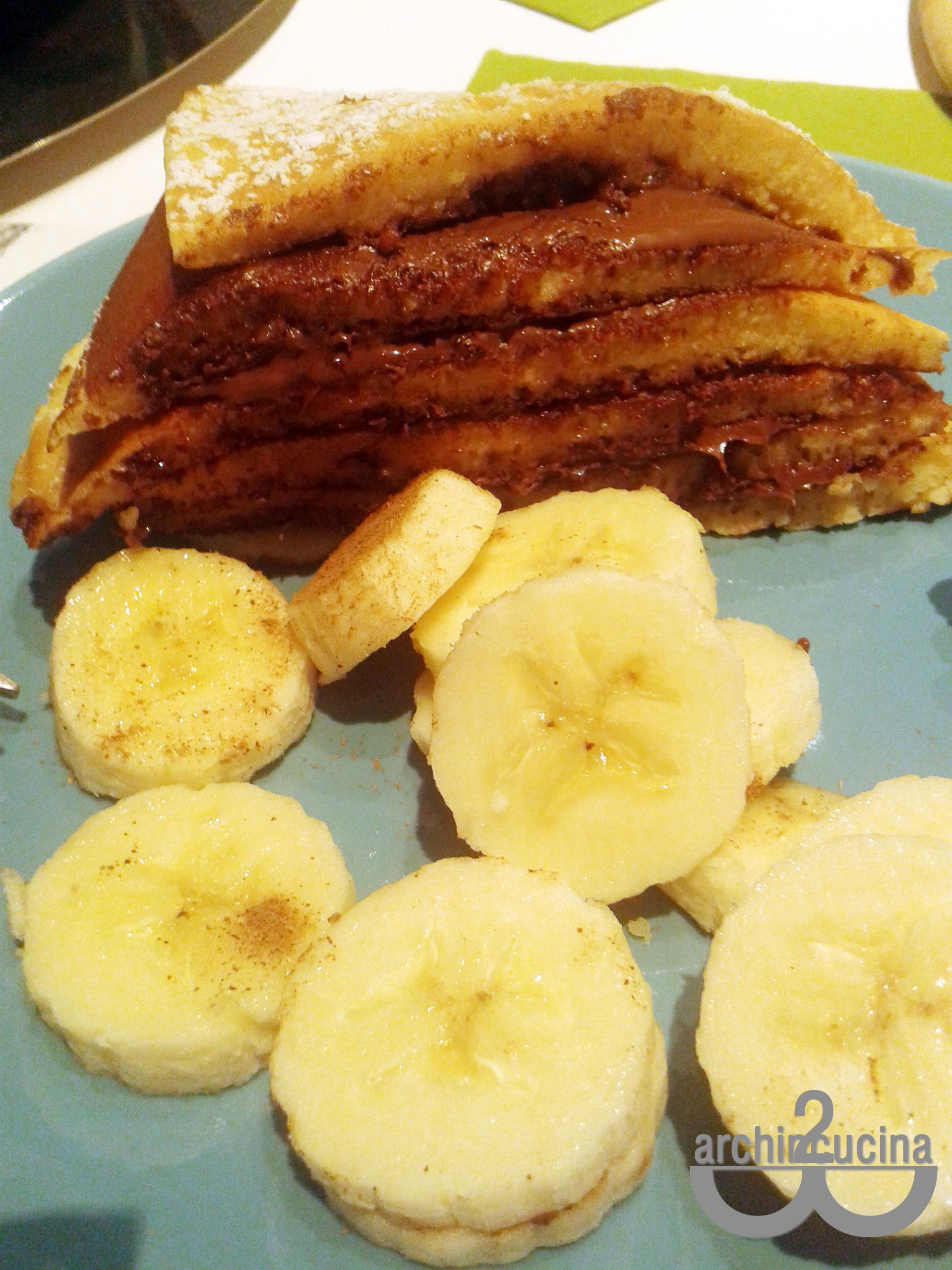 Pancakes alla Nutella senza zucchero e latte