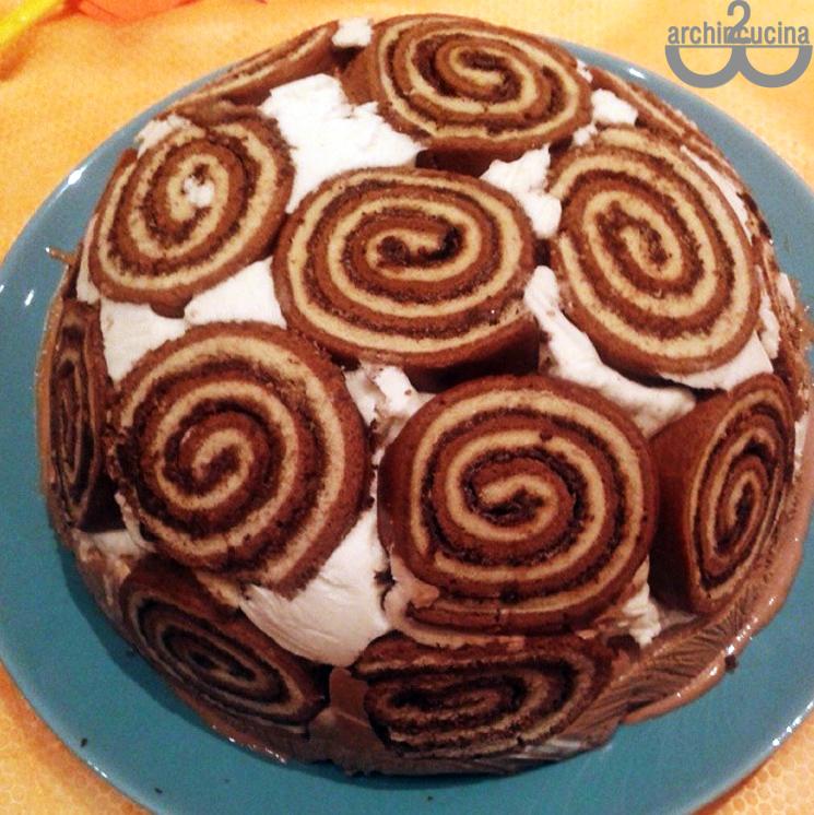 Torta gelato girella - Ricetta facile e veloce