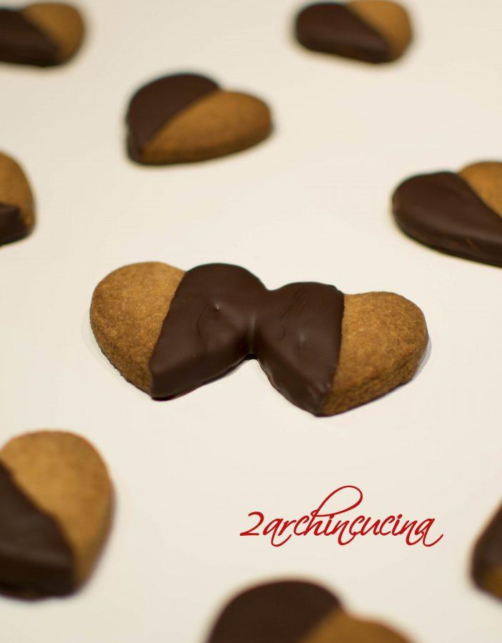 Biscotti ricoperti di cioccolato