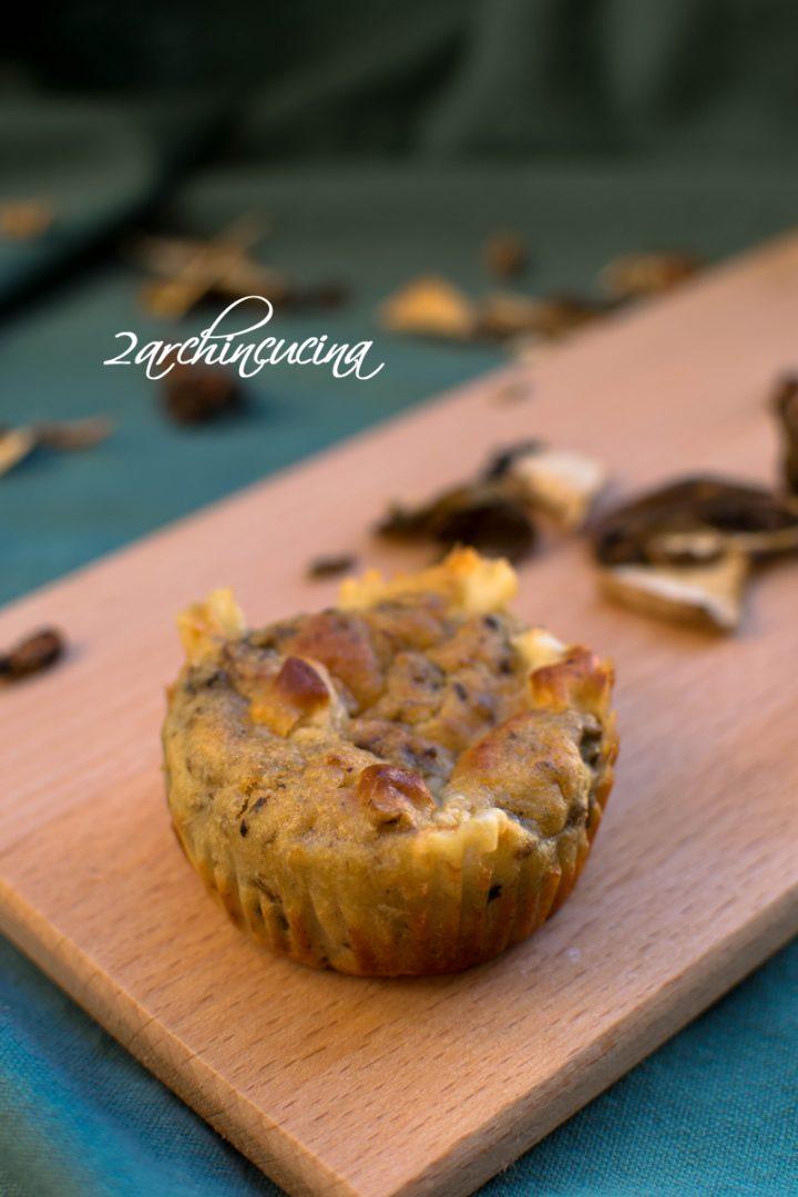 muffin 1muffin salati ai funghi porcini