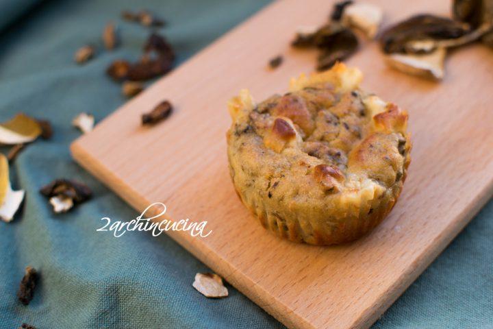 muffin salati ai funghi porcini