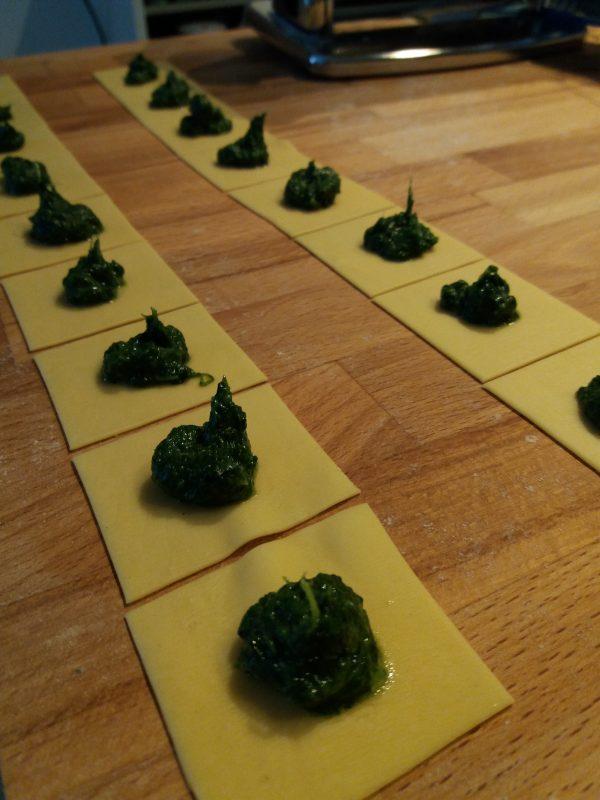 Tortellini ripieni di spinaci