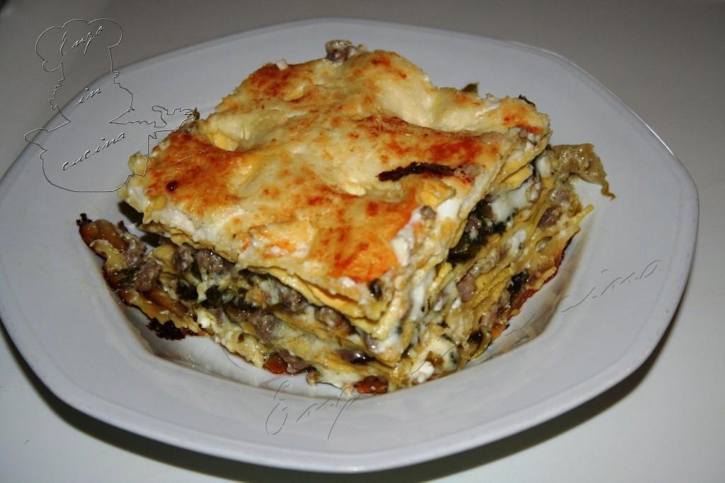 Lasagna salsiccia noci scarola blog