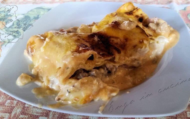 Lasagne zucca salsiccia e provola affumicata