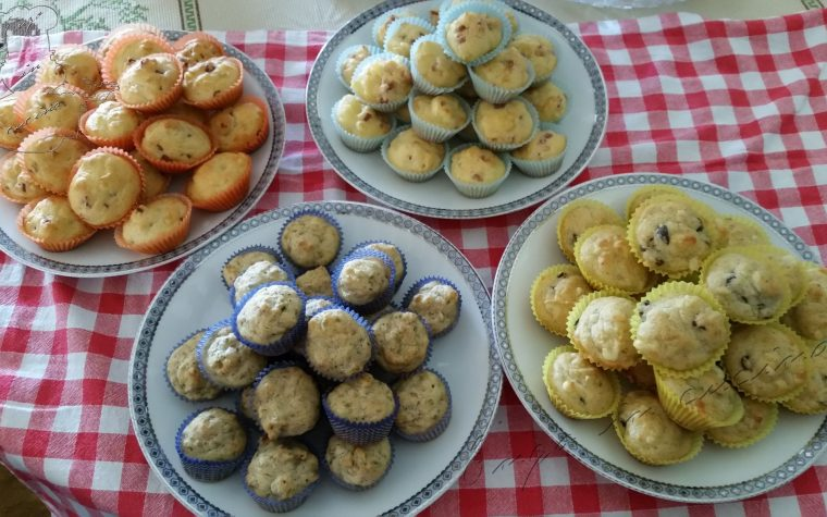 Mini muffin salati 4 gusti