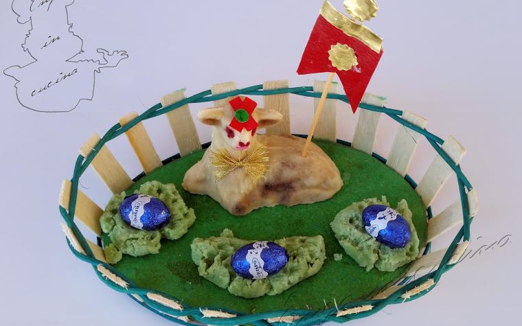 Pecorelle pasquali in pasta di mandorle