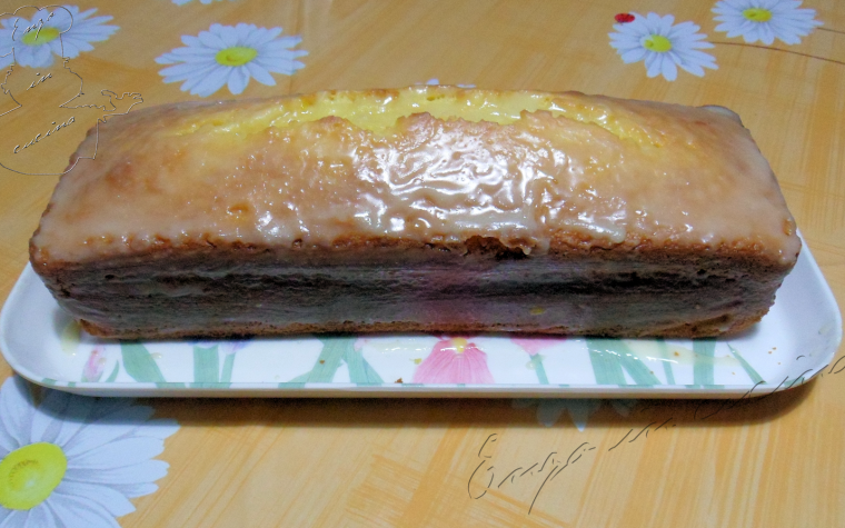 Plum-cake all'arancia senza lattosio