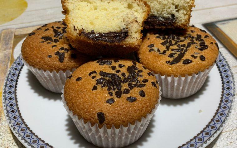 Muffin senza glutine e lattosio col cuore morbido