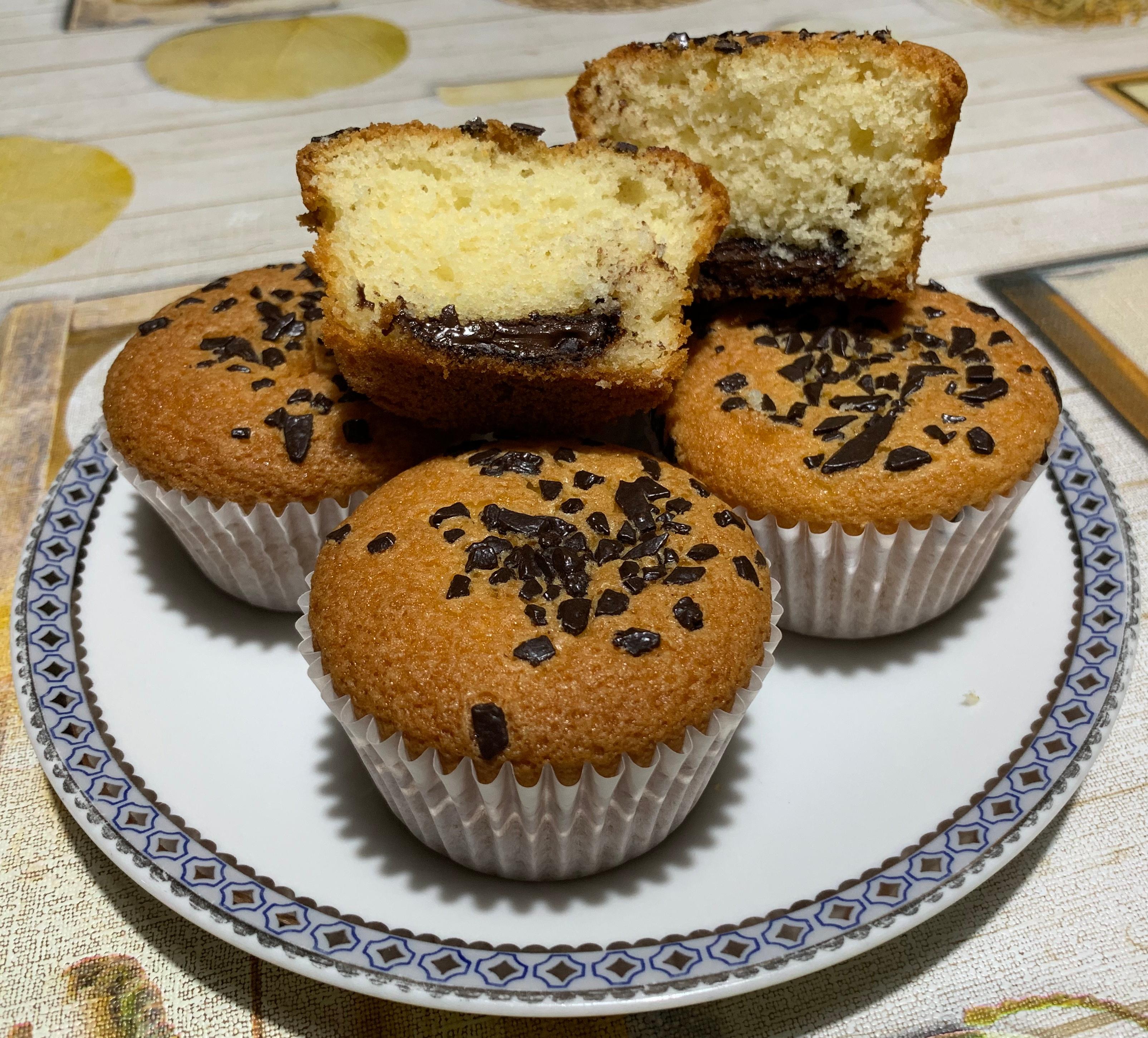 Ricetta Muffin Senza Latte.Muffin Senza Glutine E Lattosio Col Cuore Morbido