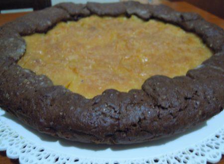 Crostata al cioccolato con crema alla panna