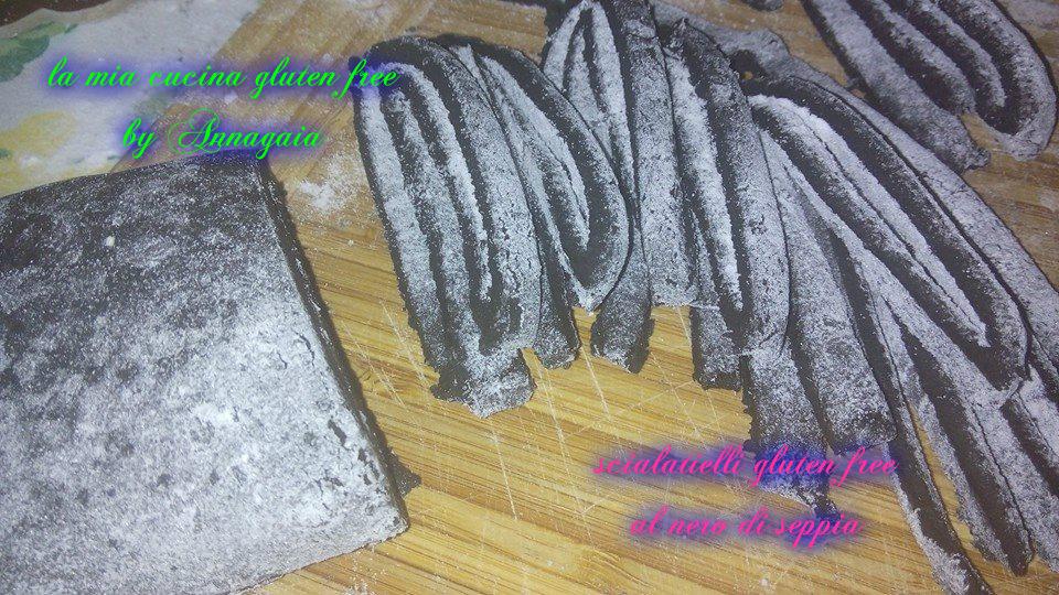 scialatielli gluten free al nero di seppia