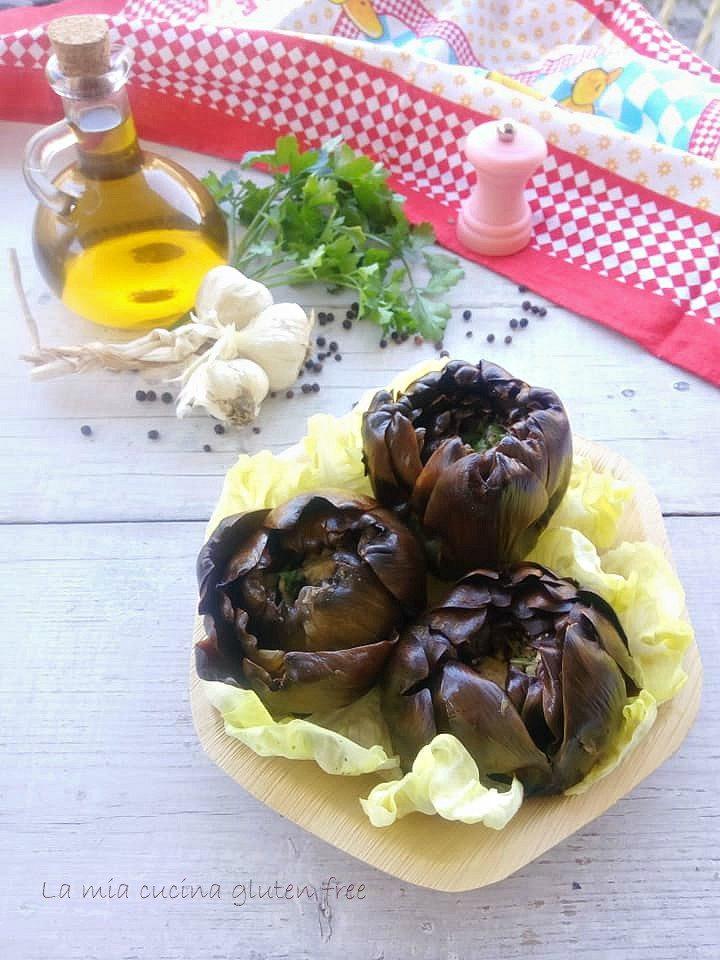 carciofi arrostiti aglio e pecorino