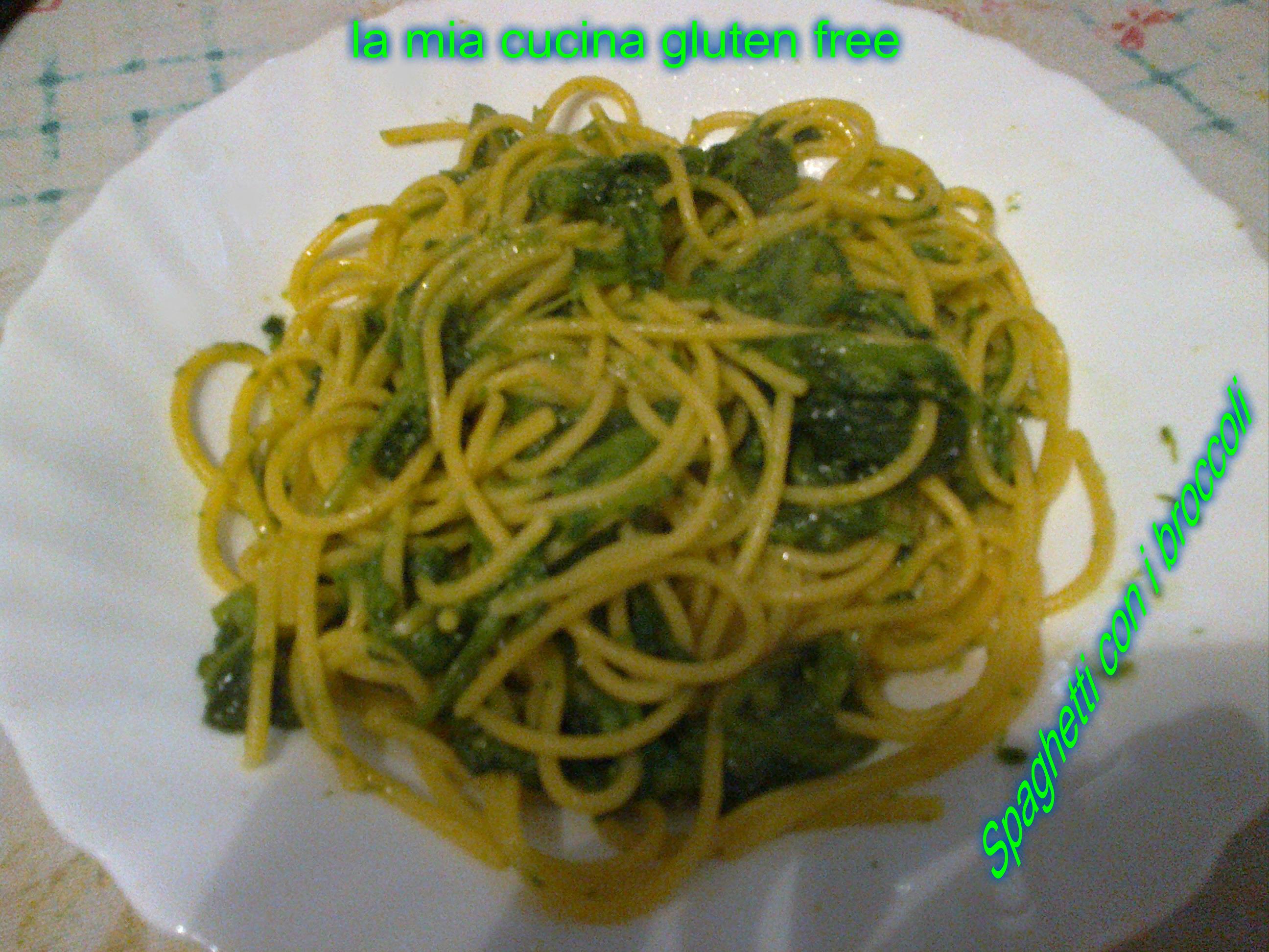 spaghetti con broccoli gluten free