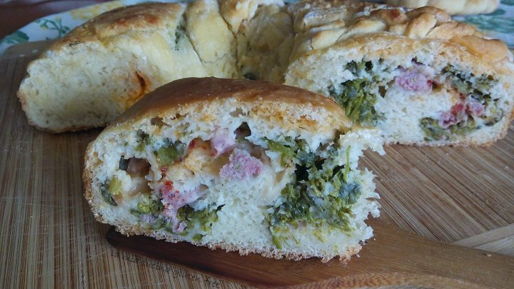 tortano broccoli e salsiccia