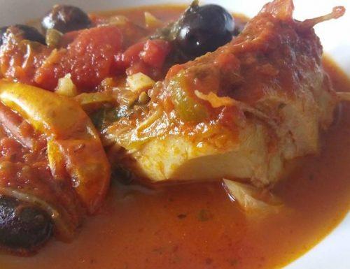 Stoccafisso con pomodorini e olive
