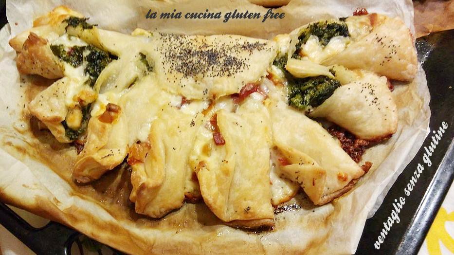 ventaglio di pasta sfoglia senza glutine