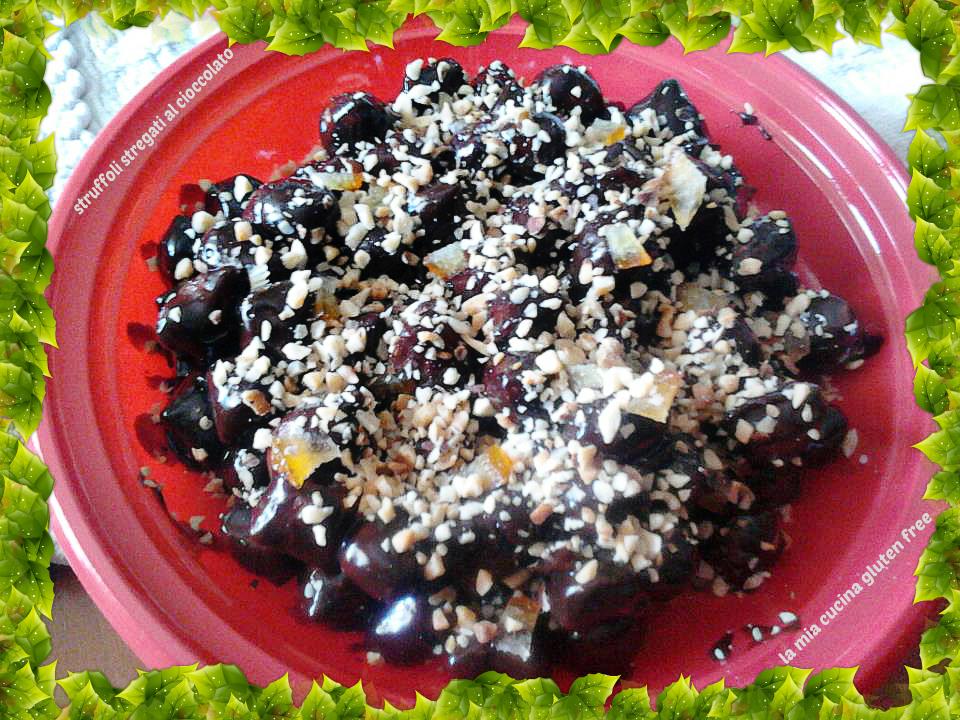 struffoli stregati al cioccolato senza glutine