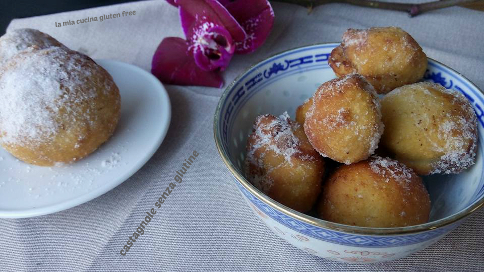 castagnole senza glutine con la nutella