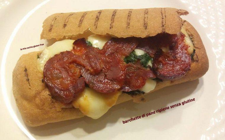 Barchette di pane ripiene senza glutine
