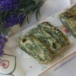 rotolo di frittata spinaci e asparagi con provola affumicata
