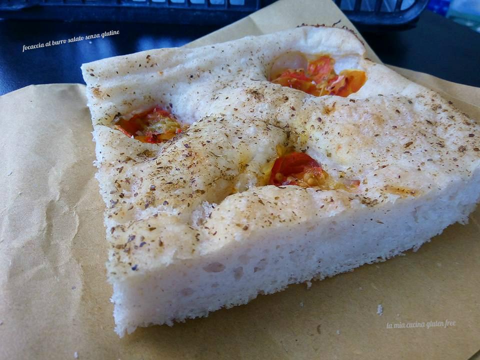focaccia al burro salato senza glutine