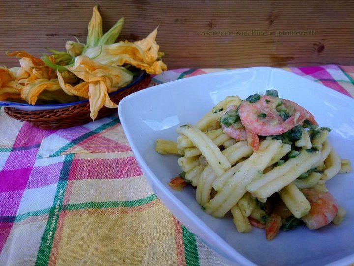 caserecce zucchine e gamberetti