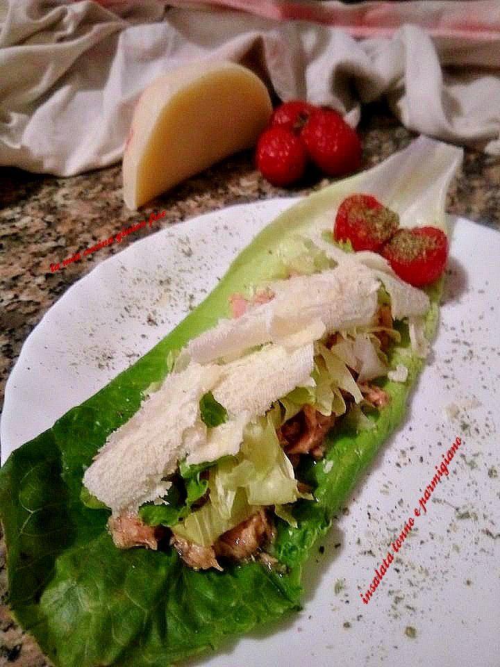barchetta insalata tonno e parmigiano