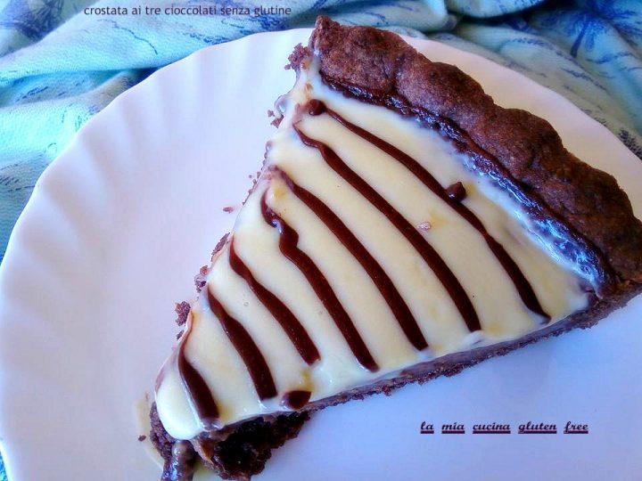 crostata ai tre cioccolati senza glutine