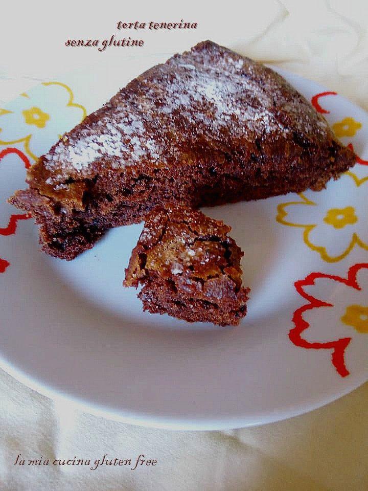 torta tenerina senza glutine al cioccolato fondente