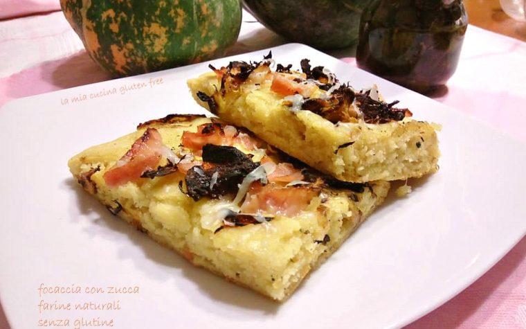 Focaccia con zucca e farine naturali senza glutine