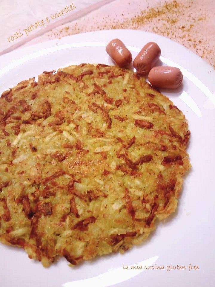 rosti di patate e wurstel