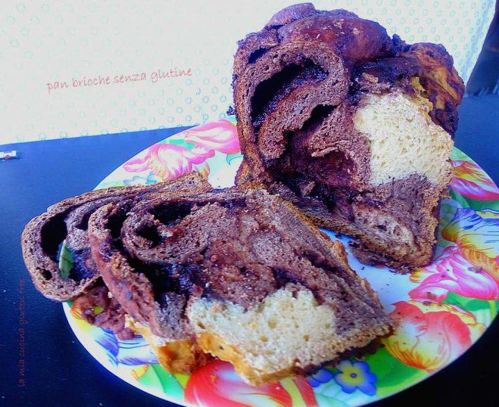 pan brioche senza glutine variegato al cioccolato