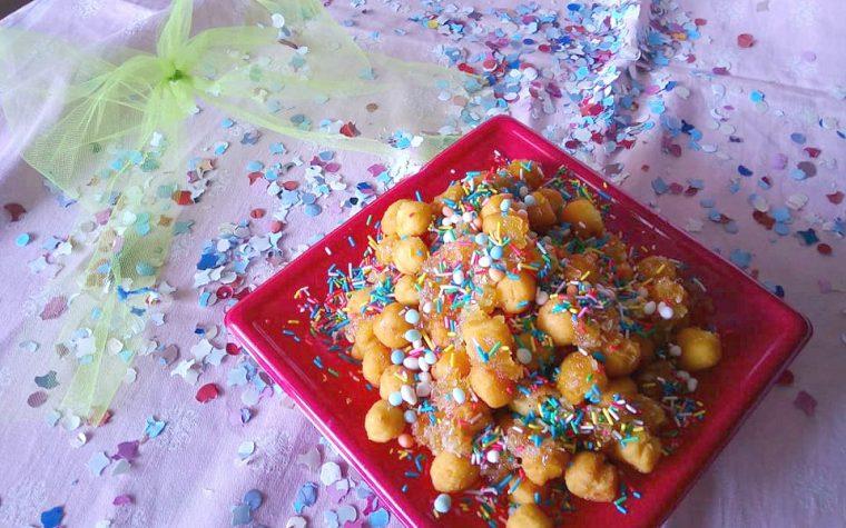Cicerchiata senza glutine di carnevale