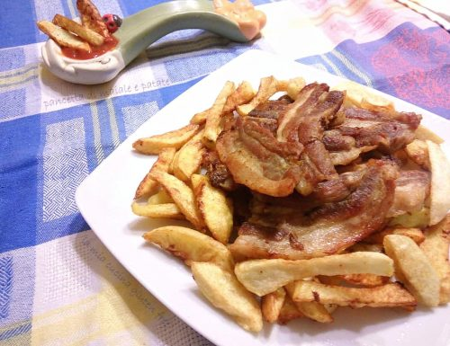 Pancetta di maiale e patate