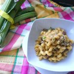 Pasta carciofi e salsiccia