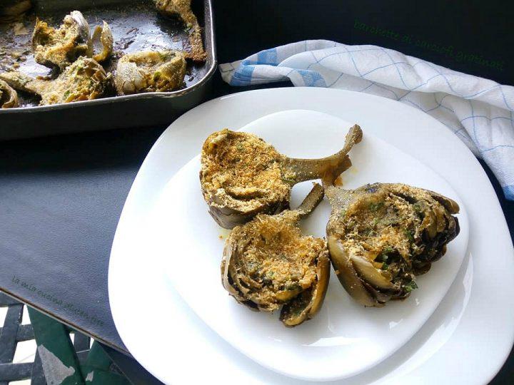 barchette di carciofi gratinati senza glutine