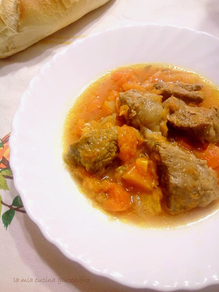 brodo di carne con la zucca