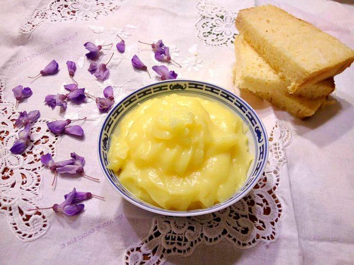 crema pasticcera all'acqua senza latte e senza glutine