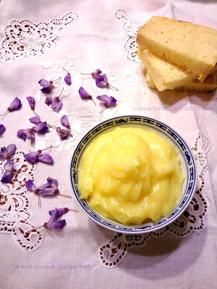 crema pasticcera all'acqua senza latte senza glutine