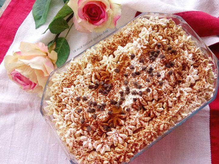 tiramisù senza glutine con pandoro e cioccolato bianco