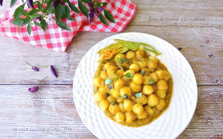 Gnocchetti con fiori di zucca e zucchine
