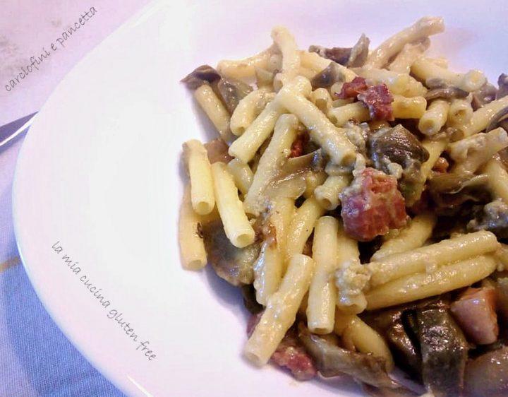 sedanini carciofini e pancetta