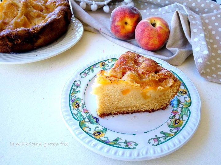 torta pesche e mele senza glutine cotta in pentola