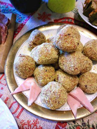 polpette con mortadella e pistacchi senza glutine