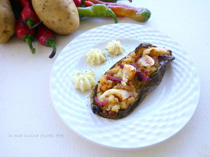 peperoni ripieni di patate e salsiccia e caiocavallo