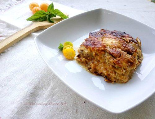 Parmigiana di melanzane e pomodori gialli