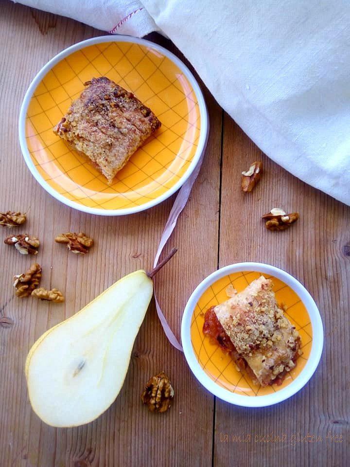 sfogliatine pere e noci senza glutine